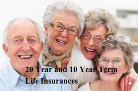 20 Year and 10 Year Term Life Insurances